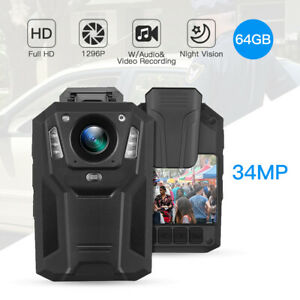 1296P-Body-Mounted-Camera-32GB-IR-Night-Vision-Video-Recorder-for-Guard-Officer