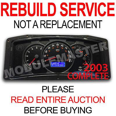 00 01 02 03 04 05 RV Workhorse Actia Cluster Center LCD Gauge REBUILD  REPAIR | eBay