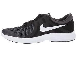 d8b7b9803186 Nike Kids Revolution 4 (GS) Running Shoes 943309 006 Black White