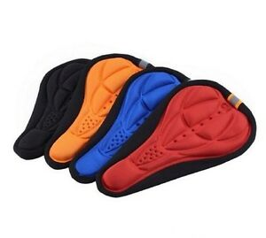 Bicycle Seat Cover 3D Gel Silicone Saddle Soft Pad Padded Cushion Bike Comfort
