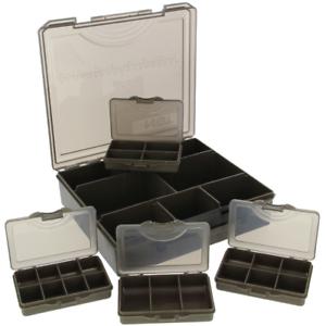 Carp 4+1 Tackle Box - Tackle Box with 4 Bit Boxes Size 23x20x6cm