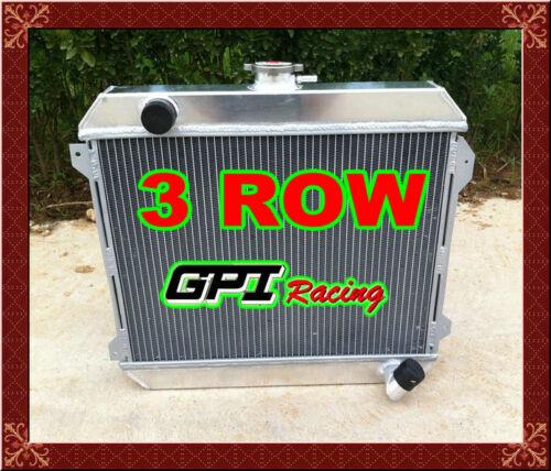 3CORE aluminum radiator for NISSAN DATSUN 510 610 710 720 L20B Manual /&fan