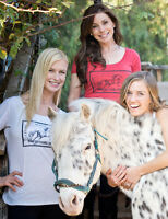 Cowgirls For A Cause Carpe Diem Scoop Neck Short Sleeve Tee-gray-m