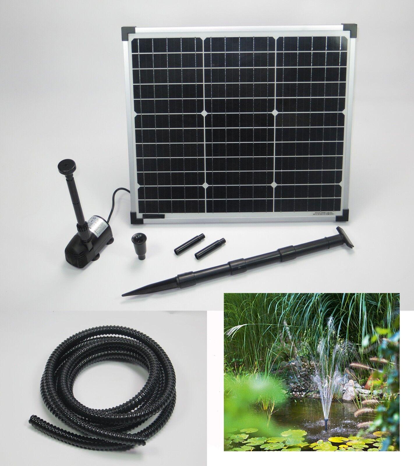 30W Bomba Solar de Estanque Buceo Jardín Bachlauf Nuevo