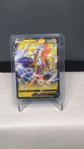 Pokemon TCG Sword and Shield 072//202 Tapu Koko V Holographic Rare Card