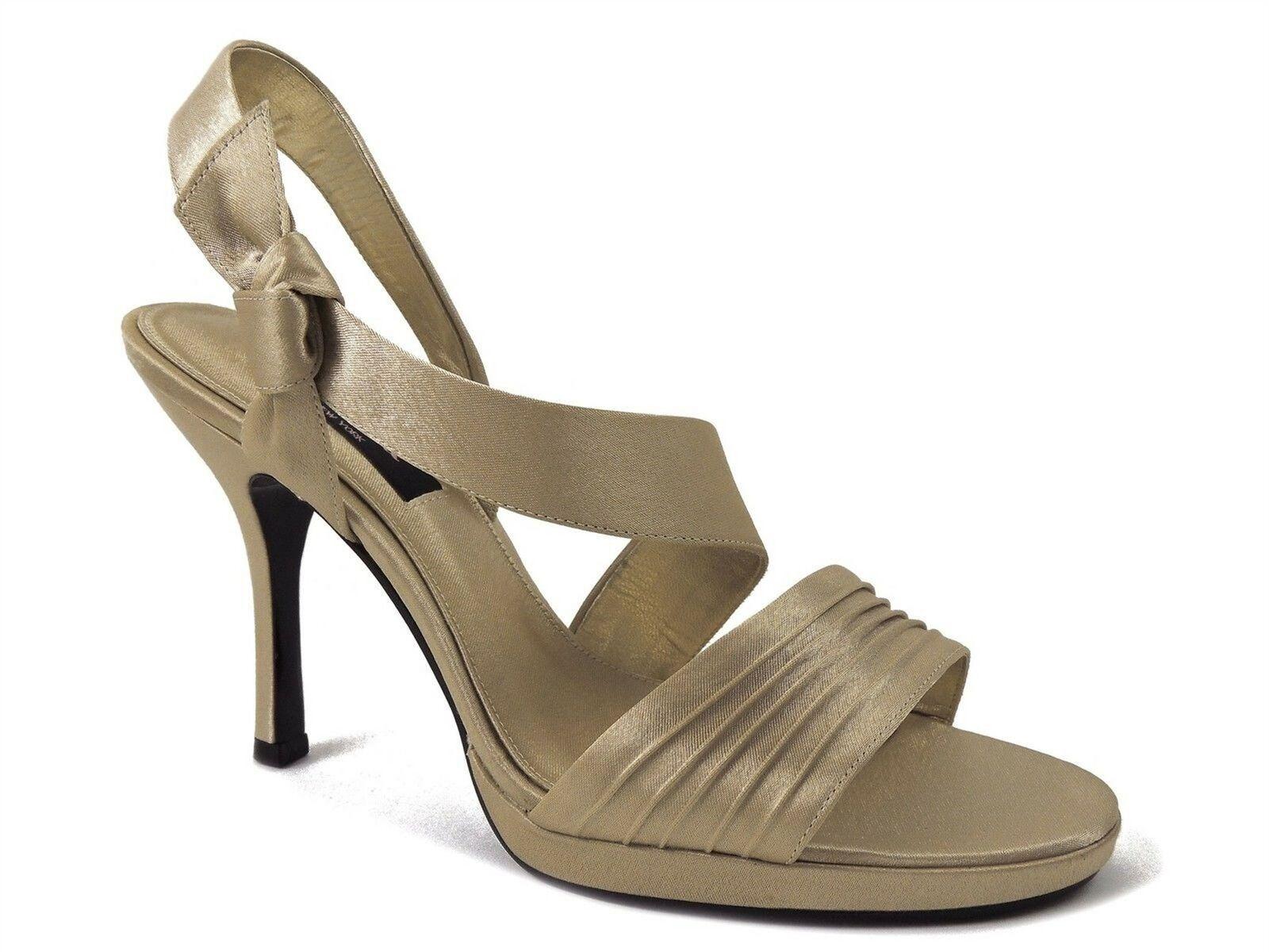 010deaa178a Nina Women's Gesalyn-Ys Platform Sandals In Royal gold Satin Size 10 ...