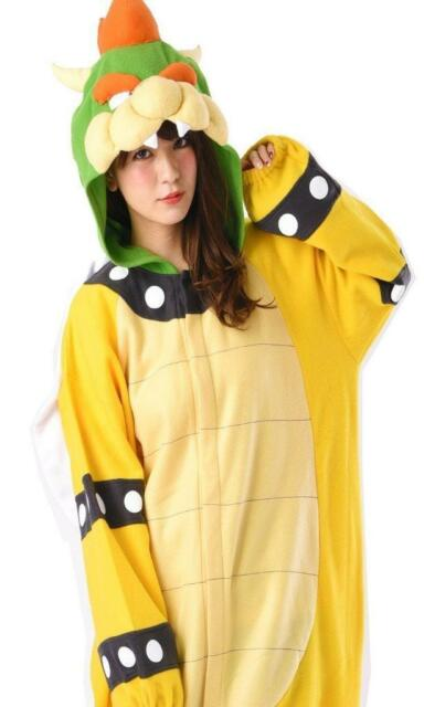 Super Mario Bros Bowser Koopa Fleece Costume Adult One Size W From