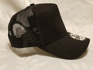1X - New Era 9FORTY Snapback Trucker Cap Blank   BLACK   9Forty New ... 7430324c243