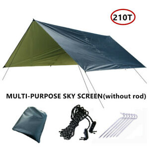 210T Tent Tarp Awning SunShade Rain Shelter 3x3m Anti-UV Camping Picnic Canopy