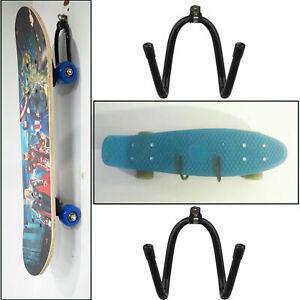 2x Universal Skateboard /& Scooter Wall Hanger Rack Mount decks longboard display