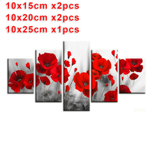 5Pcs Abstract Modern Oil Painting Art Canvas Printed Wall Home Decor Framless