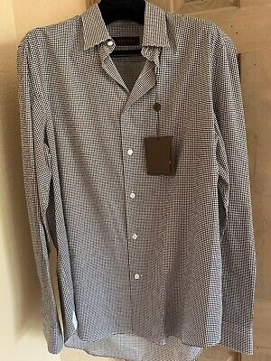 Nwt Louis Vuitton Mens Printed Shirt Navy Pattern Long Sleeve On Up Xl Ebay