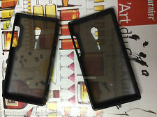 Buy2. Black Rubber Bumper Transparent Solid Back Case For Sony Xperia ion LT28i