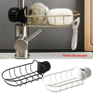 Kitchen-Sink-Faucet-Sponge-Soap-Cloths-Drain-Storage-Rack-Organizer-Holder-C5E6