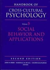 Handbook of Cross-Cultural Psychology, Volume 3: Social Behavior and Application