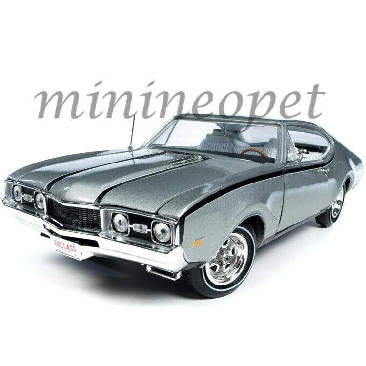Autoworld AMM1143 clase de 68 1968 Oldsmobile Cutlass Hurst 1 18 Diecast Plata