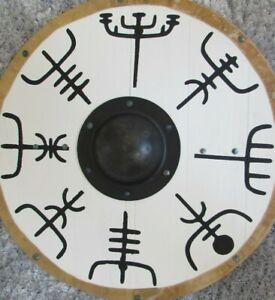 Vegvisir symbol planked Viking shield
