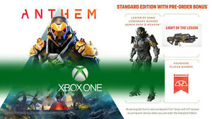Anthem DLC Legion of Dawn Armor/Weapon Bonus Content! (Xbox One) Pre Order Bonus