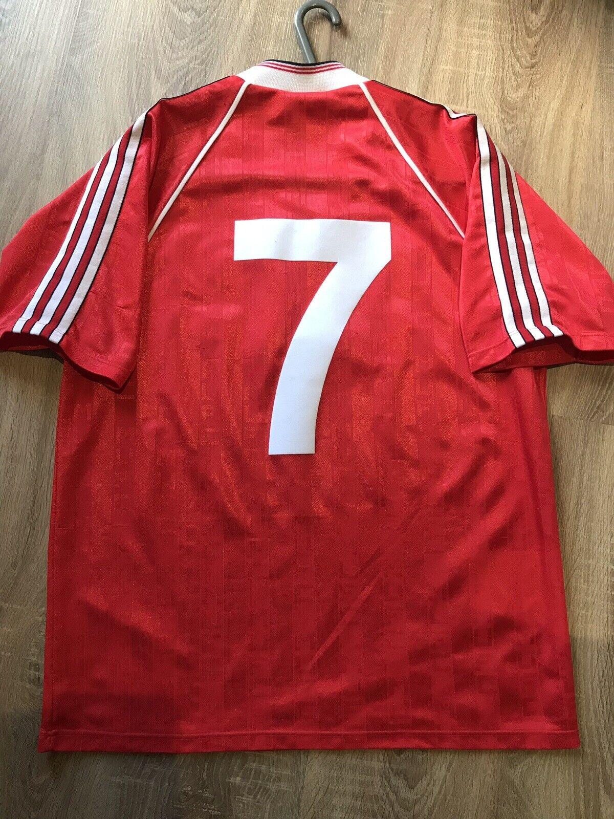 Manchester United Original Vintage 1988 90 Hogar Camiseta número 7 adultos (XL)
