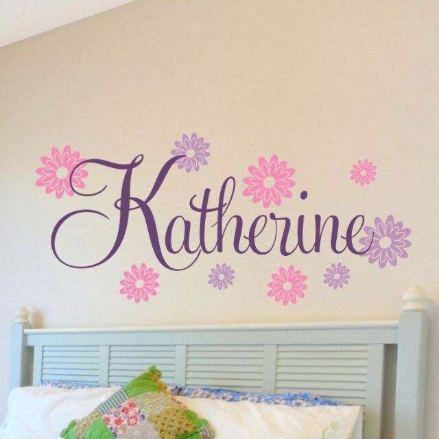 Frozen Inspired Personalized SnowFlakes and Stars Name Vinyl Wall Decal