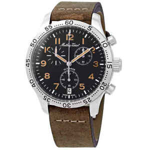 Mathey-Tissot-Flyback-Type-21-Chronograph-Black-Dial-Men-039-s-Watch-H1821CHALNO