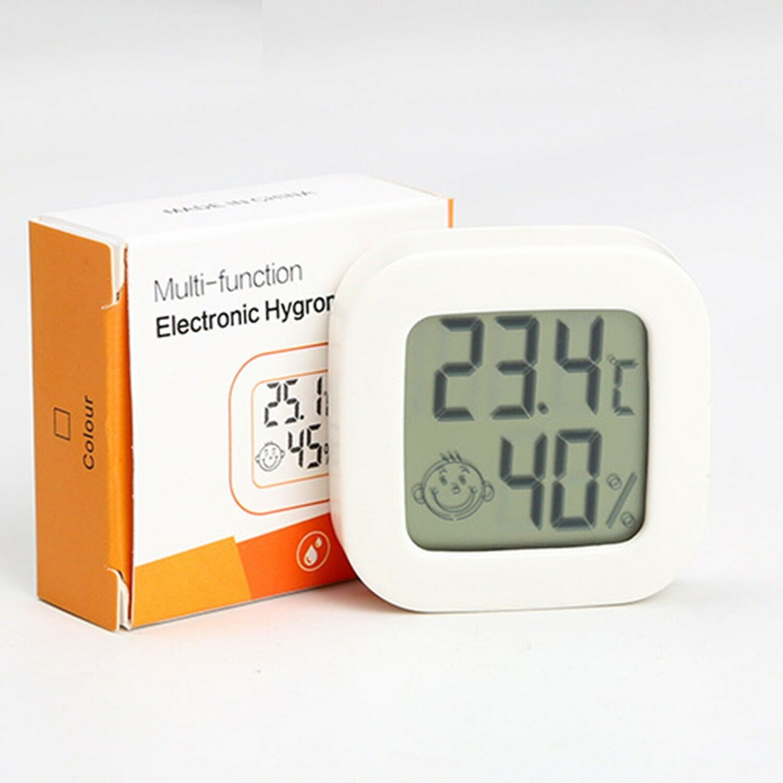 Indoor Thermometer Hygrometer Mini Room Temperature Tools White Accessory