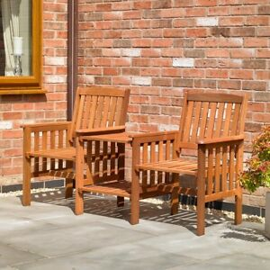 HARDWOOD-GARDEN-PATIO-LOVE-BENCH-SEAT-WOODEN-OUTDOOR-FURNITURE-CHAIRS-amp-TABLE