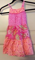Girl Childrens Place Dress Pink & White Floral Church Size 3t Paisley Twins