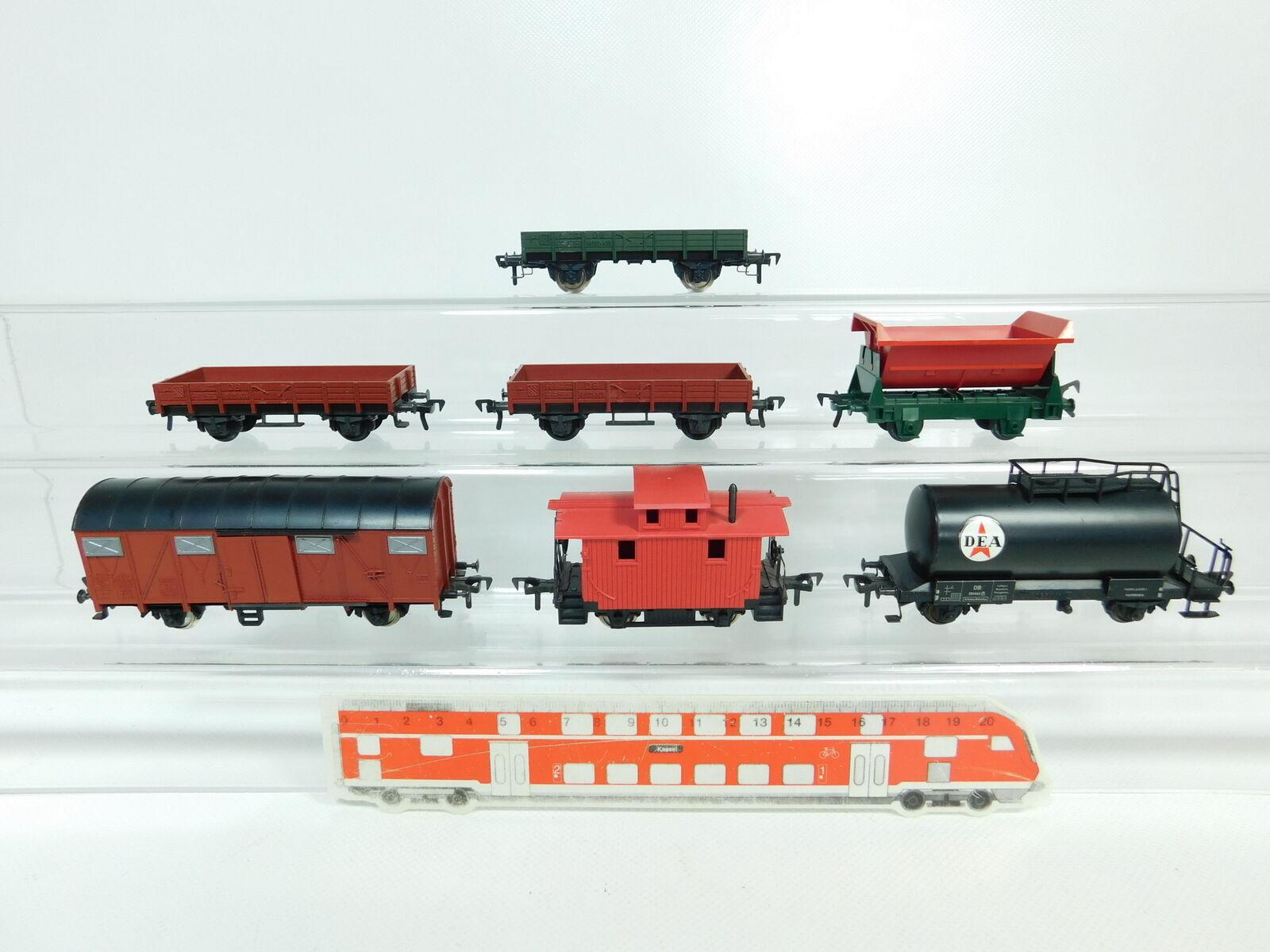 BP776-1x Fleischmann H0 DC Güterwagen  US-Caboose+DEA DB+Kipplore etc, gut