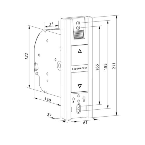 Rademacher rollotron base 1100-uw ruedas eléctrica cargar empotrado gurtwickler