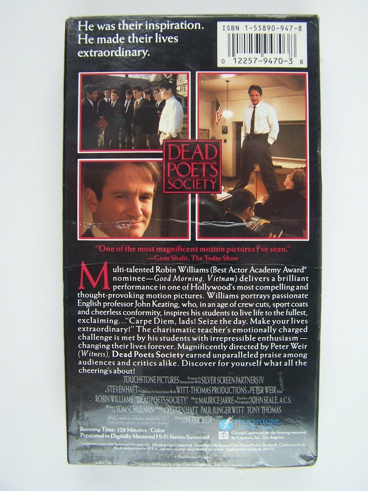 Dead Poets Society VHS Video New Factory Sealed 1225794