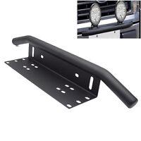 Black Duty Offroad Bumper License Plate Mounting Bracket Led Work Fog Light