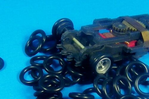 HO Slot Car 20 Pair (40) O Rings Silicone ORing Front Tires AFX Tomy Tyco
