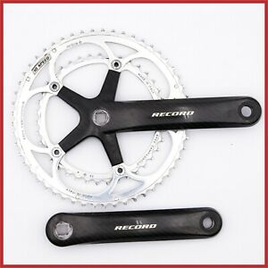 CAMPAGNOLO-RECORD-CARBON-CRANKSET-172-5mm-53-39T-SQUARE-TAPER-10s-SPEED-1ST-GEN