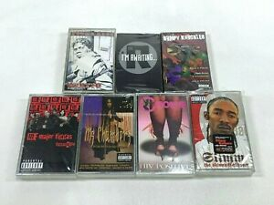 Lot-7-Cassette-Tapes-Explicit-Rap-Hip-Hop-90-039-s-Bumpy-Knuckles-Freddie-Fox-Rakim