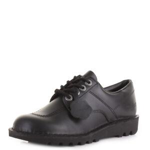 Détails sur Homme Kickers Kick Lo en cuir Noir à Lacets Smart Travail École Chaussures Taille afficher le titre d'origine