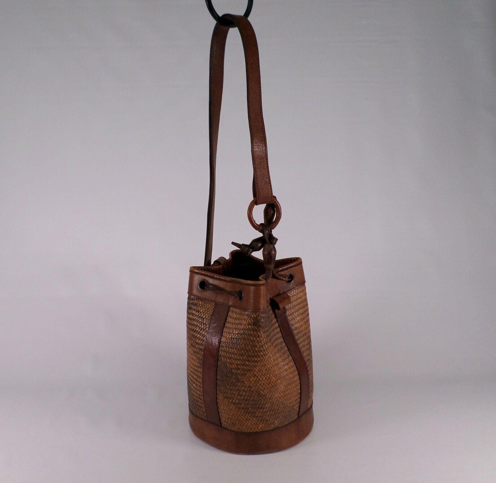 Brooks Brothers Leather Handbag Bucket