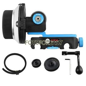 FOTGA-DP3000-DSLR-Quick-Release-Clamp-Follow-Focus-for-15mm-Rod-Speed-Crank-Gear