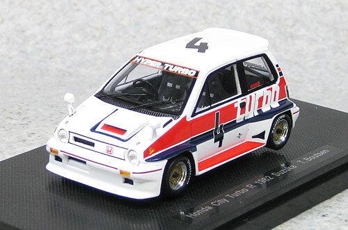 1//43 scale Ebbro 44472 Honda City Turbo R #4 Suzuka 1982 T.Boutsen Resin