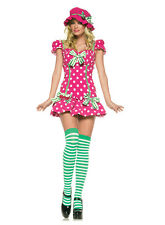 RASPBERRY GIRL berry candy tea party sexy womens adult halloween costume XS 0-2