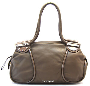 79ca00f5917f MIMCO PATENT NATURAL DAY LEATHER BAG ELEPHANT LIGHT BROWN BNWT RRP ...