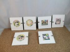 Set Of 6 Miniature art Pieces by Sharon Jervis Cats Kitties