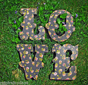 painted-wooden-034-LOVE-034-letters-shabby-chippy-wedding-vintage-distressed