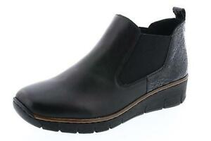 Ladies Boots Ankle 00 Black Rieker Leather 53794 ZTqWw6