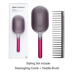 dyson-Detamgling-Comb-And-Paddle-Brush-Styling-Set-Airbag-Massage-Comb-WideTooth