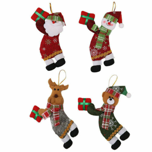 Christmas Ornaments Santa Claus Snowman Reindeer Toy Doll Hang Party Decor 2020