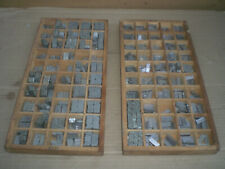 2 Type Die Sets For Wyman Foil Stamping Press 14 And 38 Characters