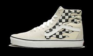Vans-UA-Sk8-Hi-Checker-Flame-White-Black-Men-Lifestyle-Sneaker-Skate-VN0A38GERX7