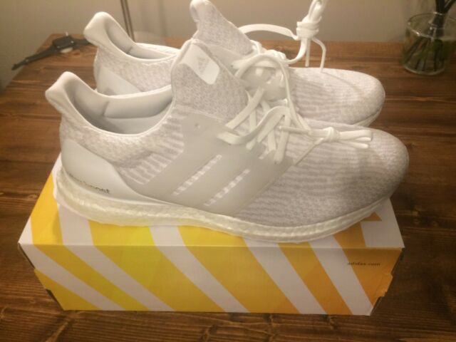 5559c02c3acb8 ... new style adidas ultra boost mens ba8841 triple white primeknit running shoes  size 10.5 00cee 66ce1
