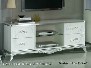 italian white furniture. image is loading thedanielaitalianwhitesilvertvunitmodern italian white furniture